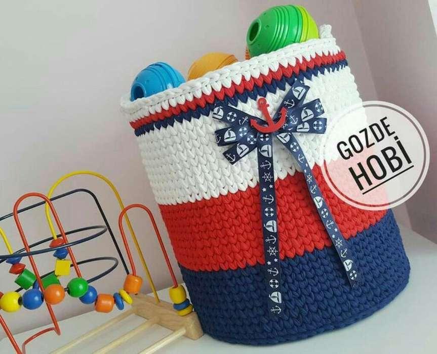 Cestos a Crochet canasto