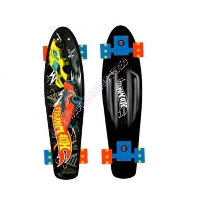 Skate De Aluminio Con Luces HotWheels PHW-18A Electrodomesticos Jared