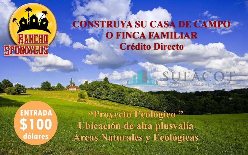 PROYECTO CAMPESTRE CON AGUA,LUZ Y ÁREAS COMUNALES / CRÉDITO Y FINANCIAMIENTO DIRECTO /SD3