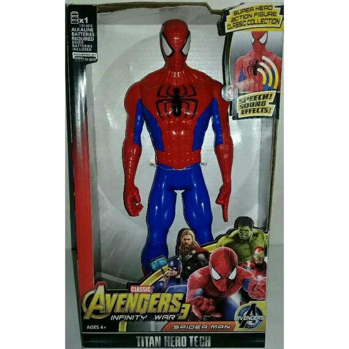 Figuras The Avengers Spider Man Y Hulk Con Luz Y Sonido