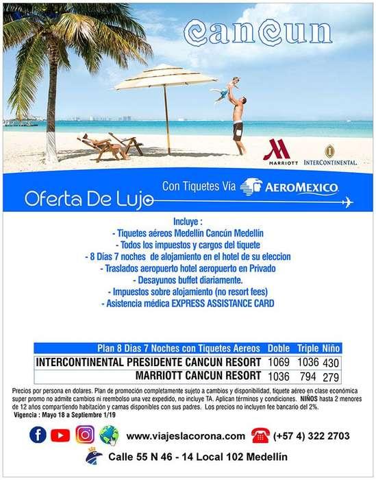 Viaje como un Rey a Cancún con Viajes la Corona septiembre