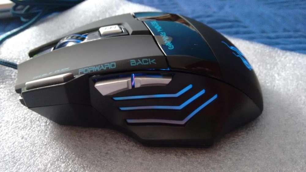 mouse gamer led profesional dpi nuevo
