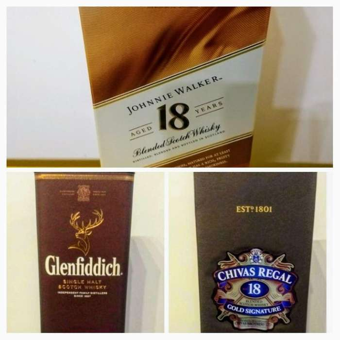 Caja Vacía Whisky Glenfiddich Chivas J.w