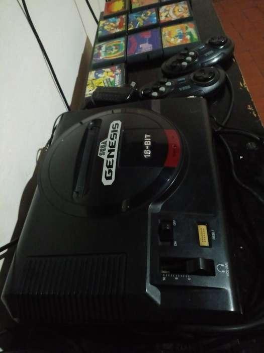 Sega Genesis Original Joystick 10 Jueg
