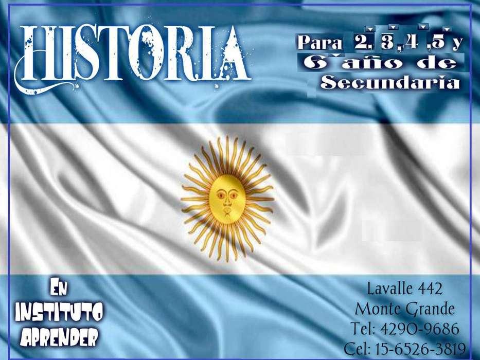 Apoyo escolar de Historia en Monte Grande