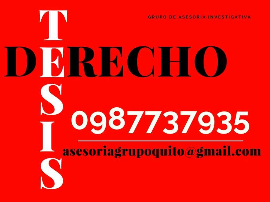 ASESORIA DE TESIS DE DERECHO