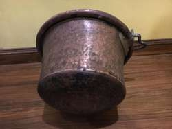 Antigua olla de cobre, 5litros de capacidad