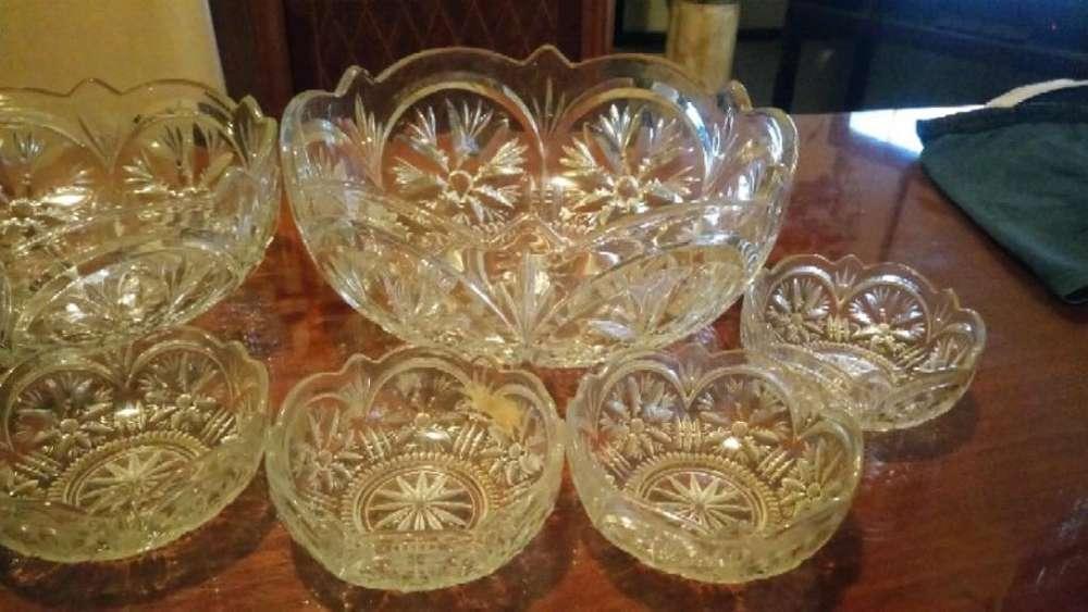 Compoteras con Bols Chico Y Grande cristal Glass