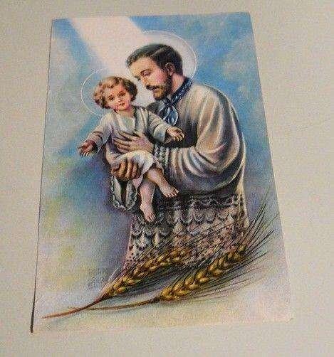 Estampa grande Con Oracion De San Cayetano Del Año 1931 impecable