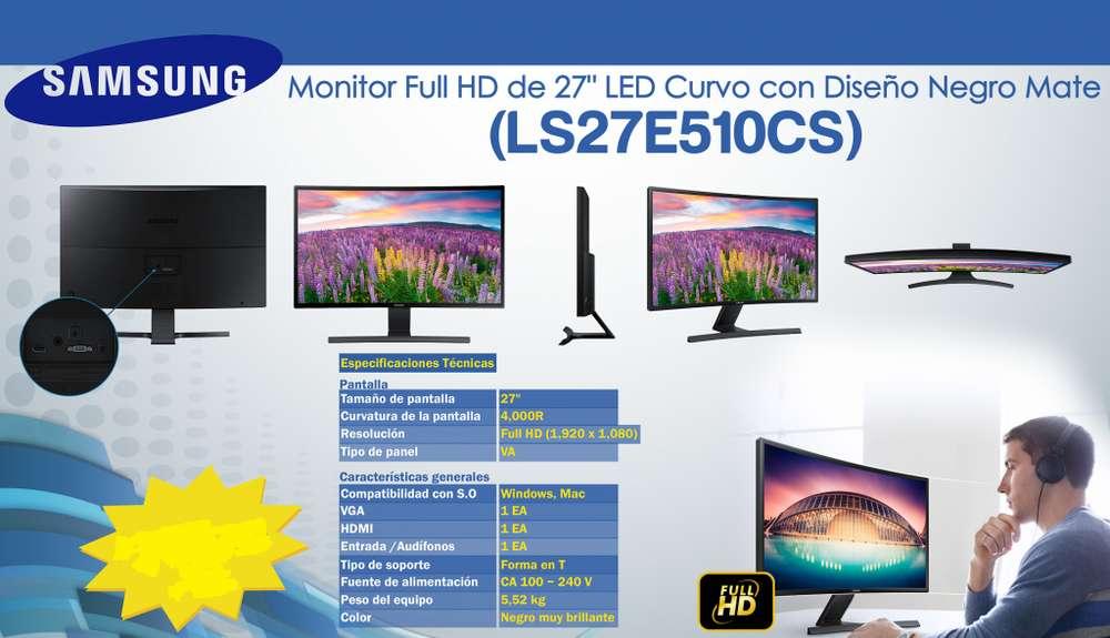 Monitor Curvo Samsung 27 Led Monitor Con Eco Saving Plus