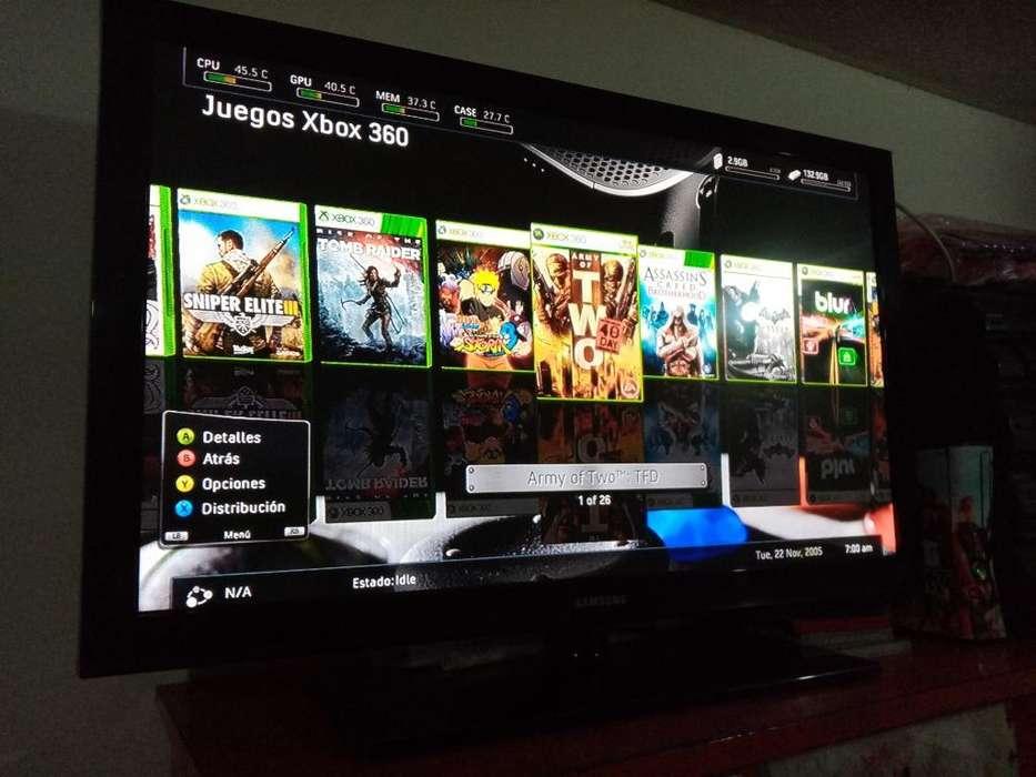 Consola Xbox 360 con Disco Duro Y Juegos