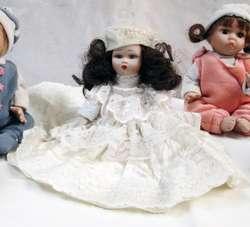 Muñecas Antiguas En Porcelana Italianas Coleccionables!