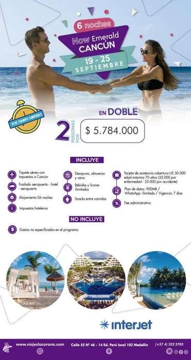 Viaje como un Rey a Cancún H. NOW EMERALD CANCÚN con Viajes la Corona