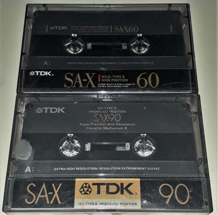 Cassettes TDK SA-X 60 y 90 Un Solo Uso Excelente