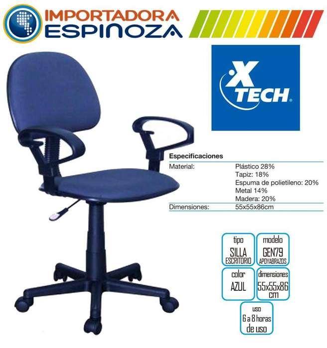 Silla Giratoria Oficinas Escritorios Con Apoya Brazo <strong>sillas</strong> Azul