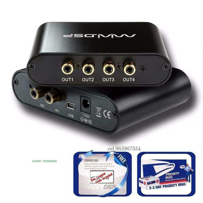 Digital Procesador Audio, DSP, Crossover, Equalizador,limiter, 2x4 Programable.