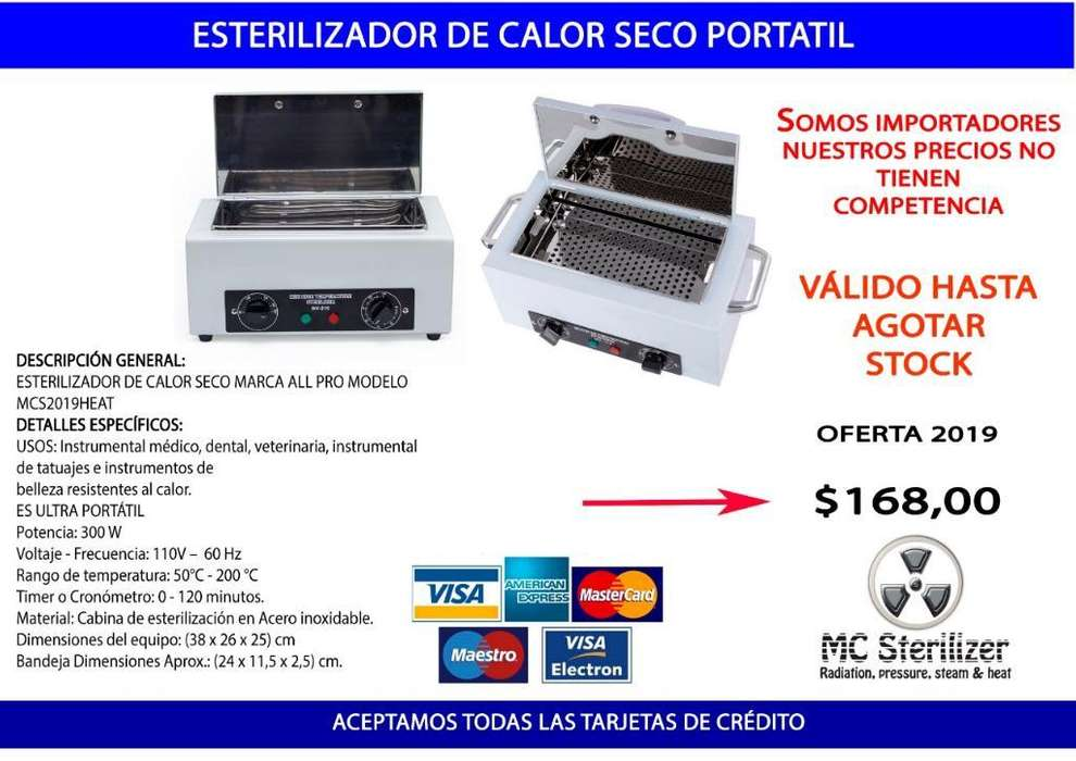 Esterilizador Miniautoclave Portátil