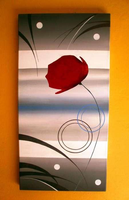 Cuadros Decorativos Florales Modernos Abstractos Minimalistas