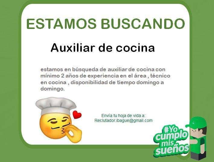 <strong>auxiliar</strong> de cocina
