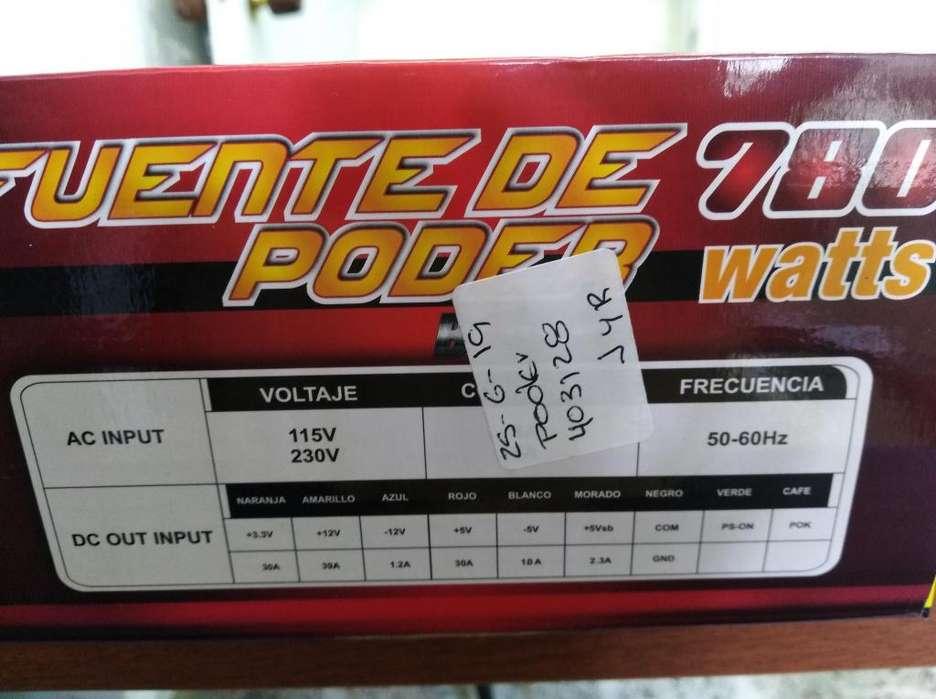 fuente de poder 280 a 300 watts reales
