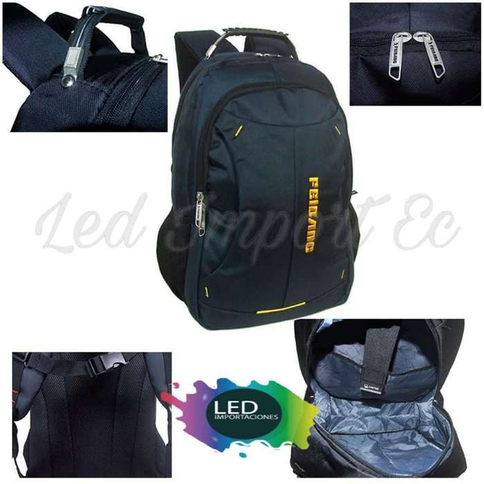 <strong>mochila</strong> con Cable USB y Power Bank