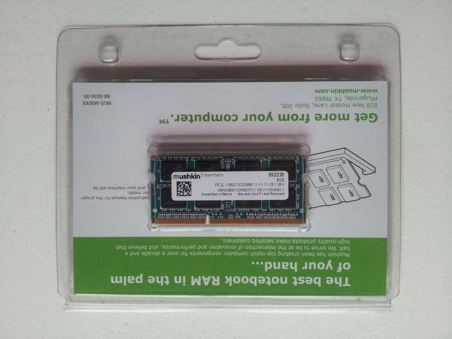 Memoria Ram Ddr3 Mushkin 8gb Sodimm 1.35v Notebook Low Volta