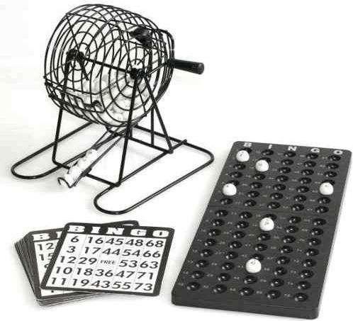 Juego Bingo Familiar Salón Mesa Balotas Metalico