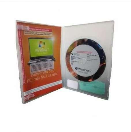 Windows 7 home basic Español 32 bits OEM Activa Windows 10 Home Caja Sellada Sticker DVD