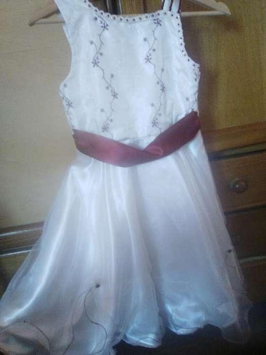 Vestido para Niña Talla 10 Seminuevo