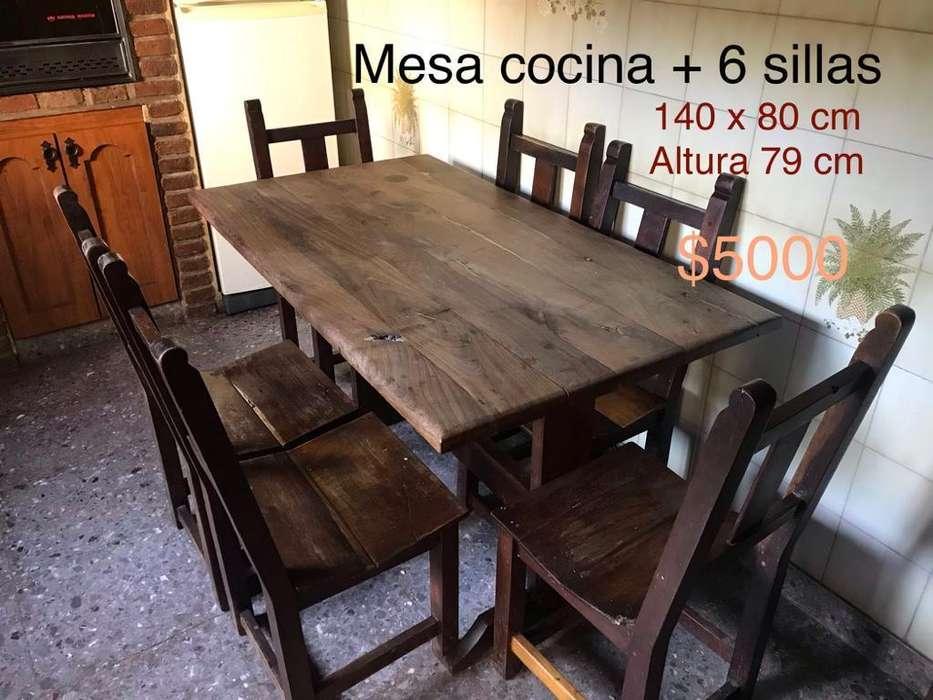 Mesa Cocina con Seis Sillas
