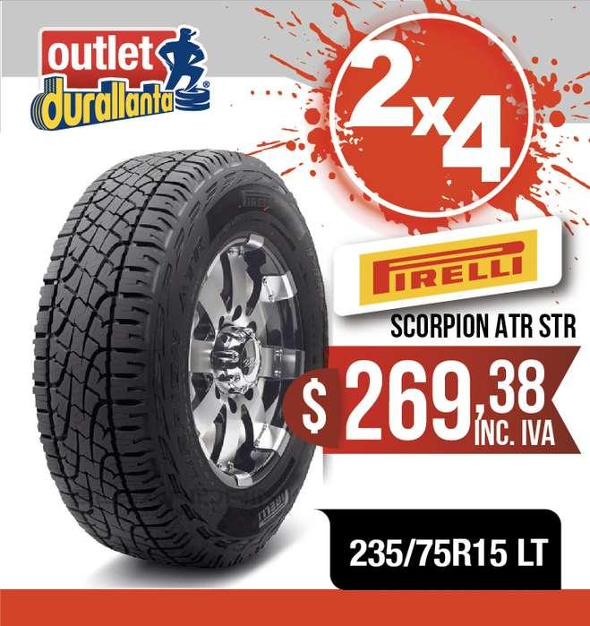 LLANTAS 235/75R15 LT PIRELLI SCORPION ATR STREET LUV D-MAX BT-50 KORANDO A230 Montero Sport 4WD