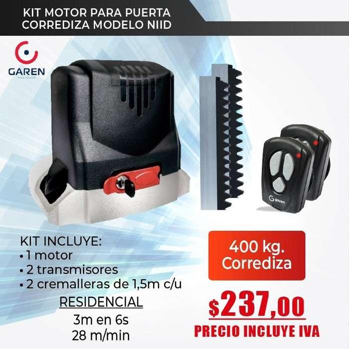 Motor para puertas de garaje corrediza garen -kit motor para puerta de garaje