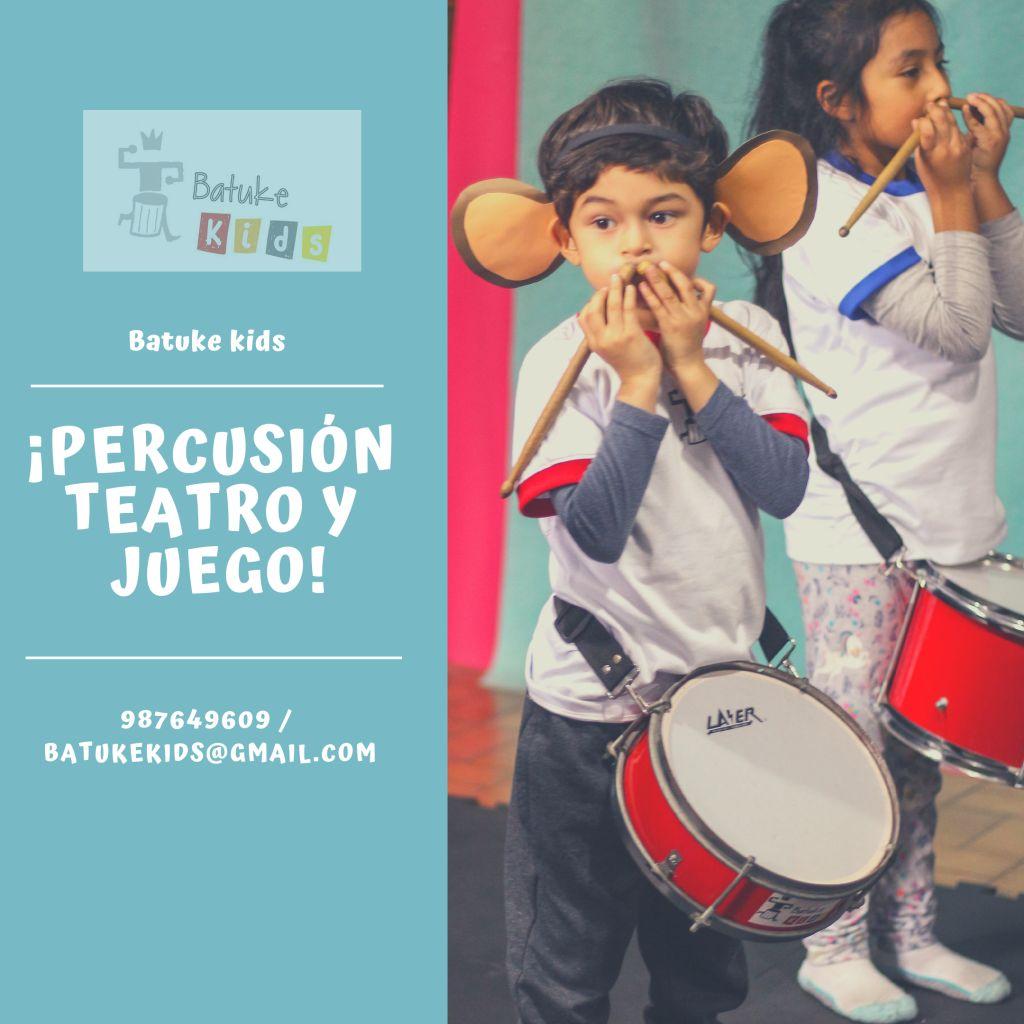 ¡Clases de Batucada y Teatro para niños!