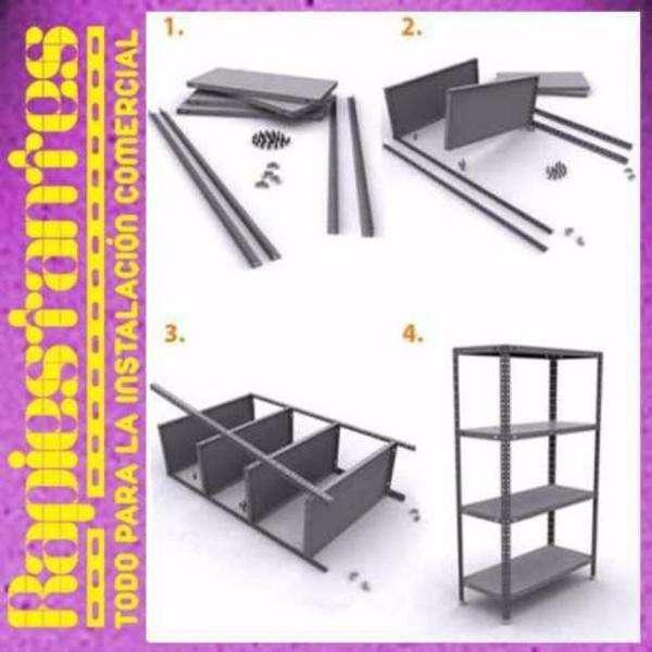 estanteria metalica reforzada 90x42x200 40 kilos por estante rapiestantesweb 900