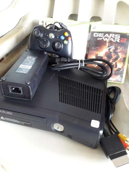 Vendo Xbox360 Slim250g 8juegos 1control