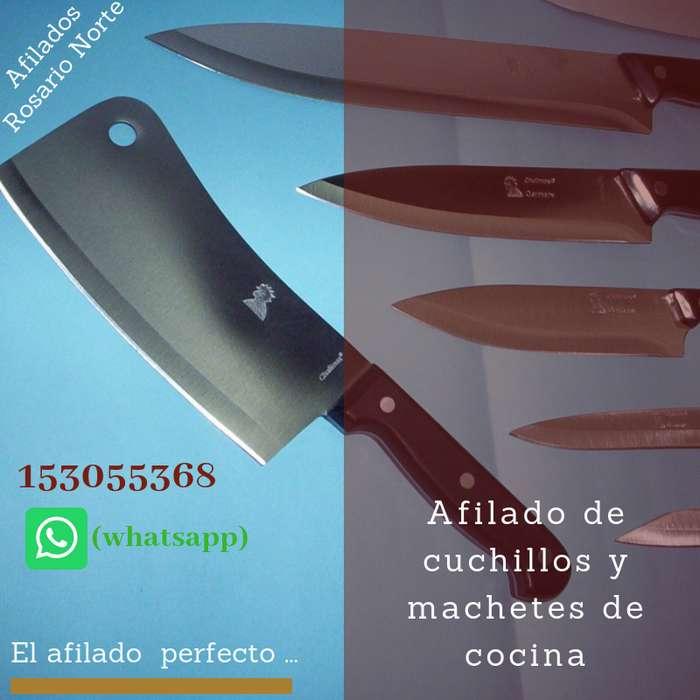 Afilado de machetes y cuchillas de cocina en Rosario