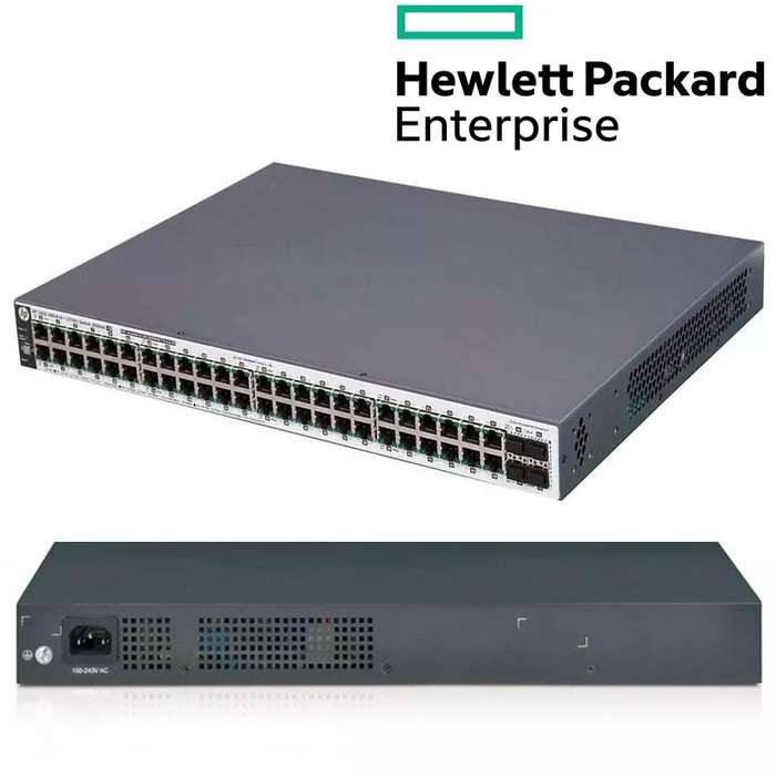 Switch Administrable Gigabit HPE OfficeConnect 1920S 48G, 48 RJ45 GbE, 4 SFP GbE, PoE 370 W