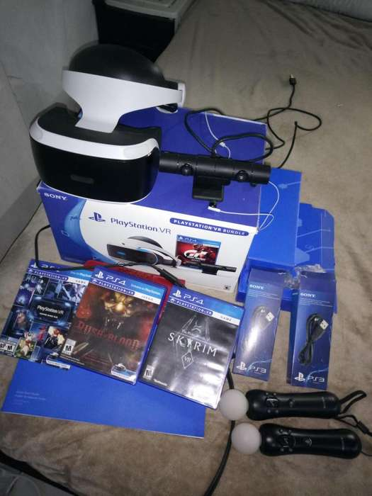 PSVR PLAYSTATION VR, SKYRIM VR, RUSH OF BLOOD VR, MOVE CONTROL, PS CAMERA. REALIDAD VIRTUAL PS VR