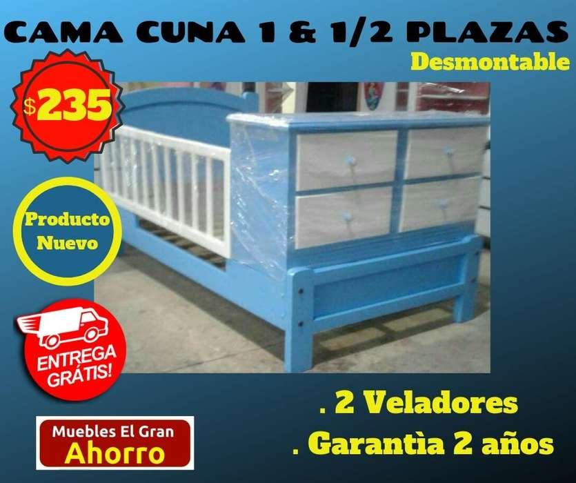 OFERTAS Cama Cuna Una y Media Plazas A SOLO 235 usd ENTREGA E INSTALACION GRATUITA