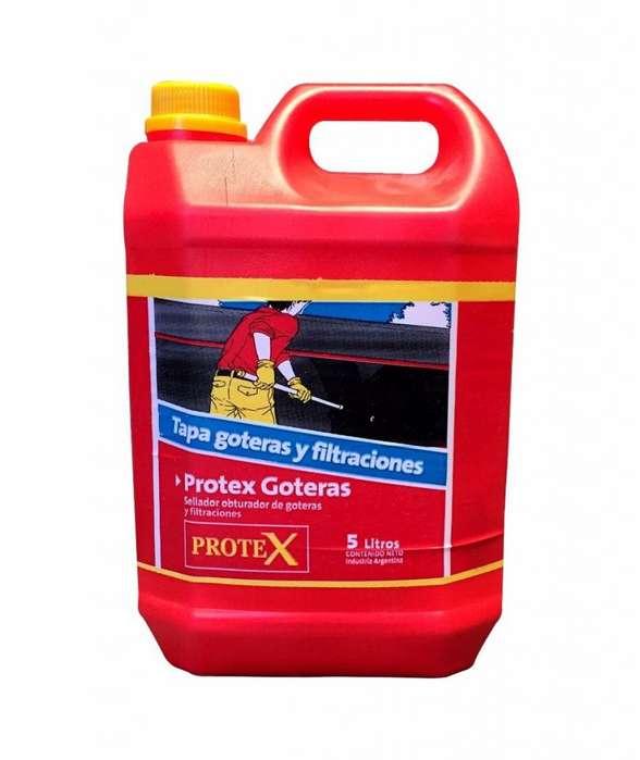 Tapa goteras y filtraciones incoloro PROTEX GOTERAS Bidón x 5 lts