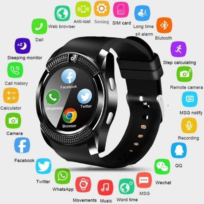 Reloj Inteligente Watssap Facebook Camara Musica Tuiter