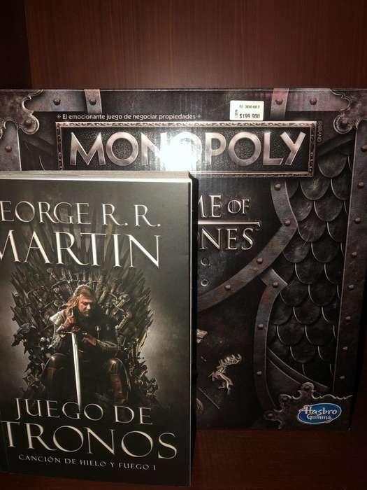 Monopoly Juego de Tronos Got Y Libro