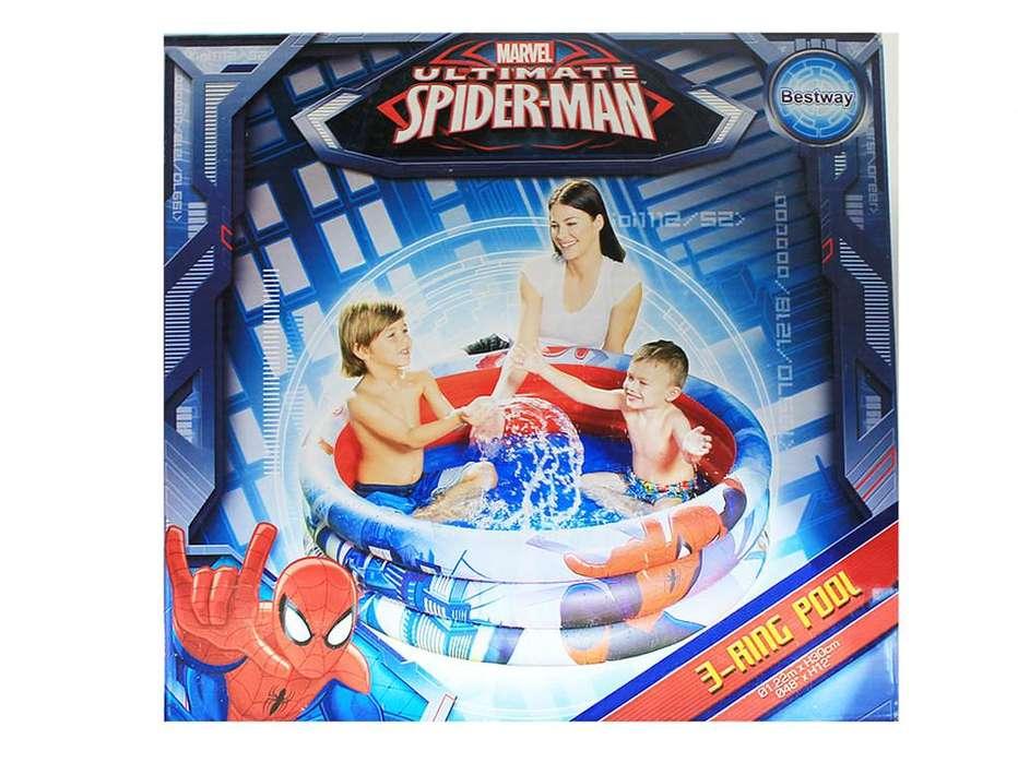 Piscina Inflable Spiderman Acolchada Infantil Niño