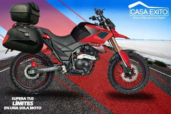 Moto Axxo Tracker 6c Año 2019 250cc Con Maletas Na/bl/ro Casa Exito
