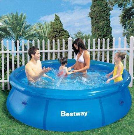 <strong>piscina</strong> Fast Set Red 244 x 66 cm Bestway NUEVO
