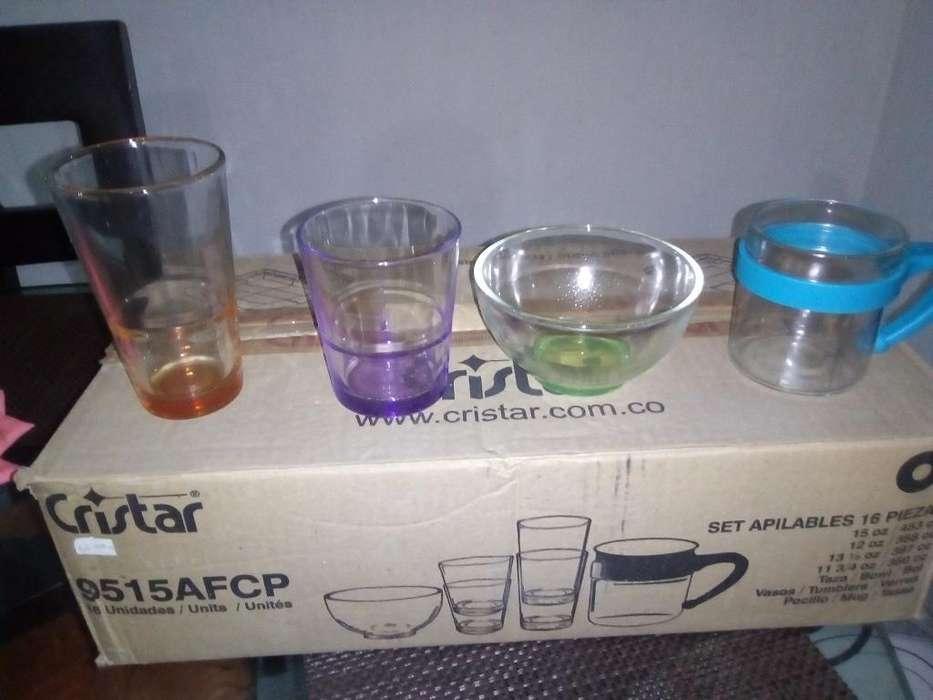 Vasos Cristales 16piezas