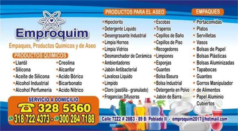 PRODUCTOS QUIMICOS Y ASEO