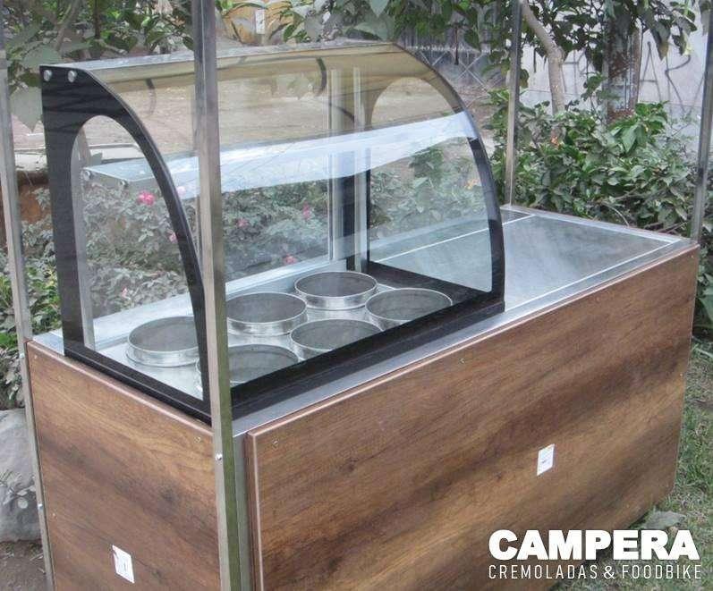carrito módulo para venta de cremoladas