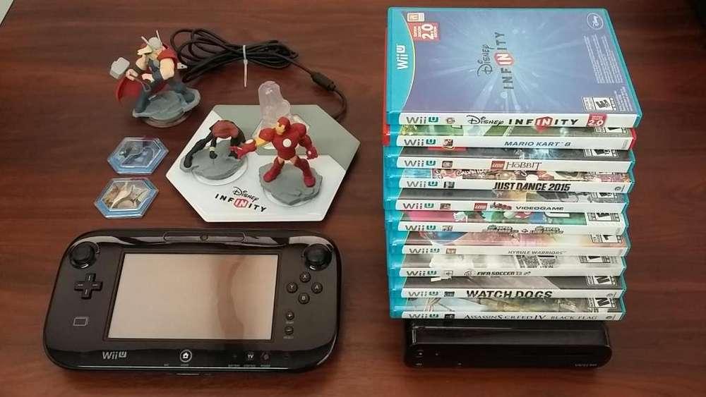 Nintendo Wii-U con 10 Juegos Originales