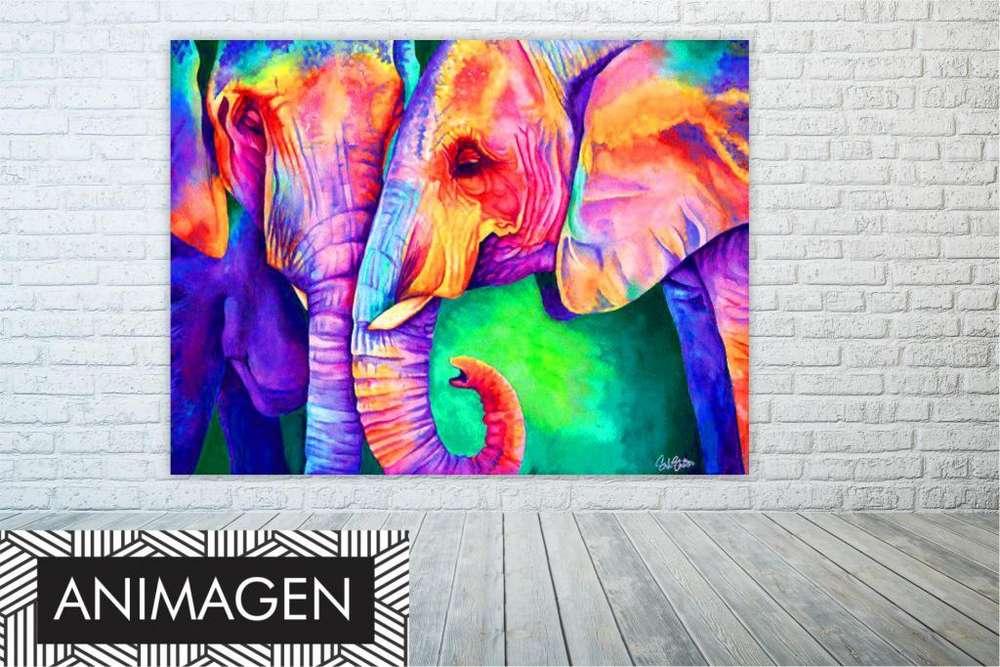 cuadro de elefantes super matizados 9867